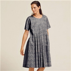 Two Danes 'Rory' 100% Cotton Paisley Dress - Mood Indigo