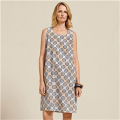 Two Danes 'Telma' 100% Cotton Spot Print Dress - Black Doe