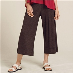 Two Danes 'Hanza' Hemp/Organic Cotton Striped Culottes - Black Coco