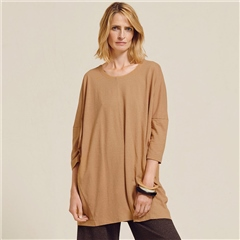 Two Danes 'Hayden' Hemp/Organic Cotton Tunic - Doe Sea Salt