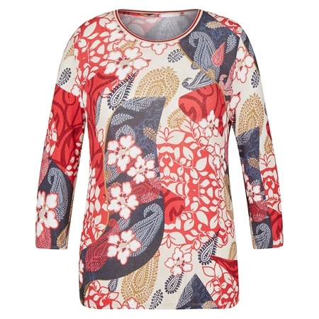 Rabe Abstract Floral Print Top