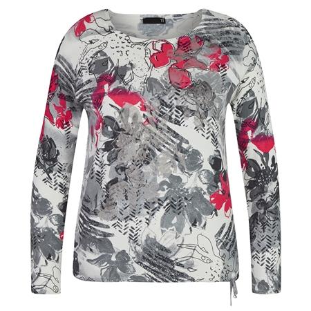 Rabe Floral Print Colour Dash Jumper