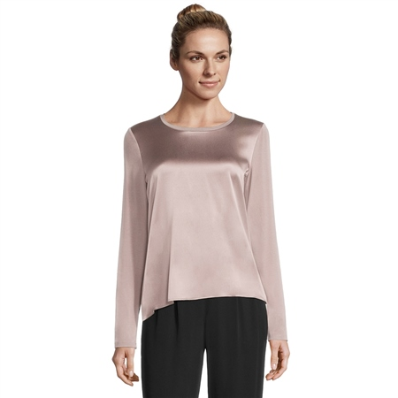 Betty Barclay Silk Front Long Sleeve Top  - Click to view a larger image