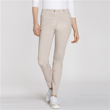 Olsen 'Mona' Slim Fit Jeans - Cashew  - Click to view a larger image