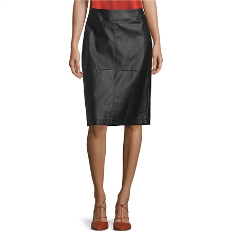 Betty Barclay Faux Leather Pencil Skirt