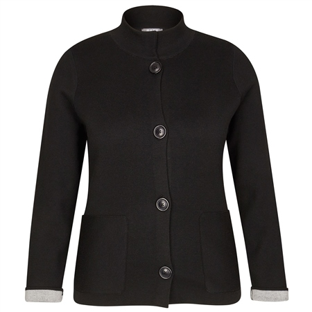 Rabe High Neck Button Up Jacket