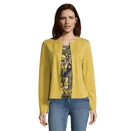 Betty Barclay Faux Suede Jacket - Golden Olive  - Click to view a larger image