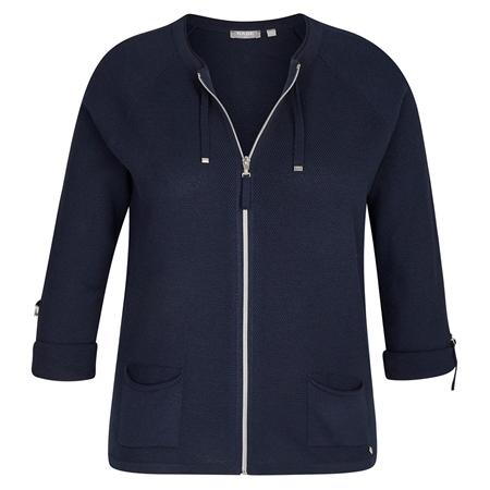 Rabe Zip Up Jersey Jacket - Marine