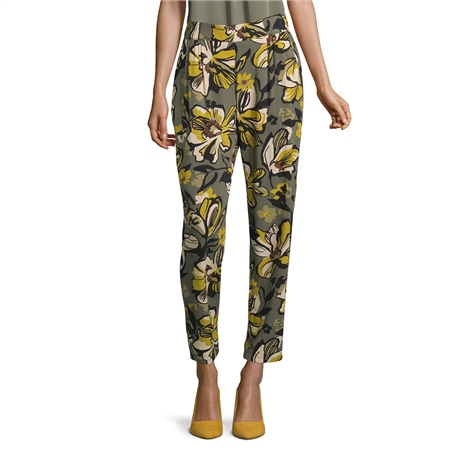 Betty Barclay Floral Print Pull On Trousers  - Click to view a larger image