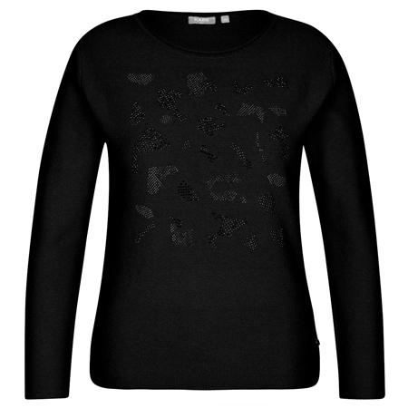 Rabe Embellished Round Neck Jumper - Black