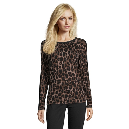 Betty Barclay Animal Print Shimmer Jumper  - Click to view a larger image