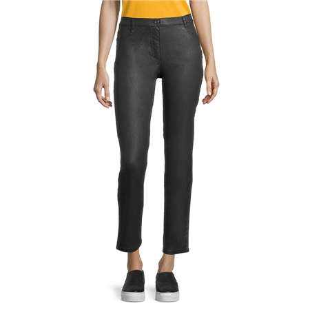 Betty Barclay Coated Leather Look Trousers - Black  - Click to view a larger image