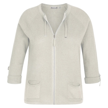 Rabe Zip Up Jersey Jacket - Pearl
