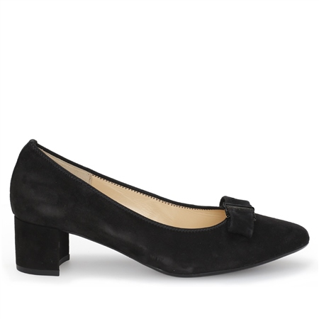 Gabor Mid Heel Suede Shoes  - Click to view a larger image