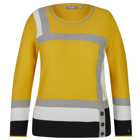 Rabe Block Colour Jumper - Honey  - Click to view a larger image