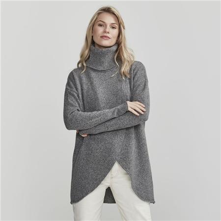 Holebrook 'Wanda' Detachable Roll Neck Wool Blend Jumper - Grey