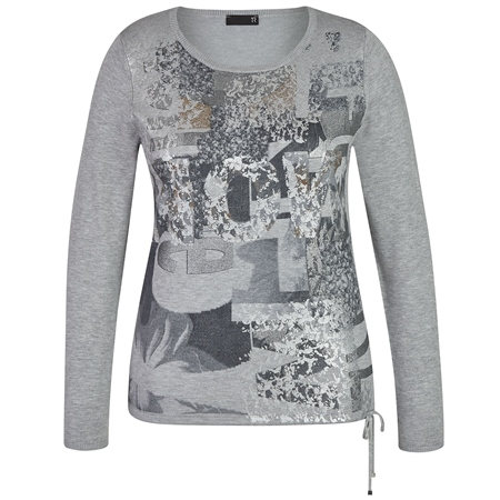 Rabe Embellished Abstract Print Jumper