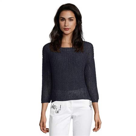 Betty Barclay Loose Knit Jumper - Dark Sky  - Click to view a larger image