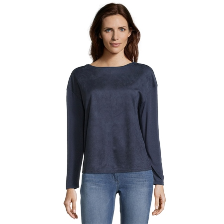 Betty Barclay Round Neck Brushed Top  - Click to view a larger image