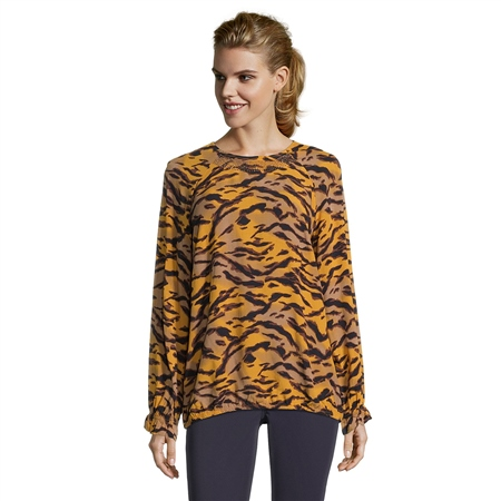 Betty Barclay Embellished Animal Print Top  - Click to view a larger image