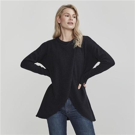 Holebrook 'Wanda' Detachable Roll Neck Wool Blend Jumper - Navy
