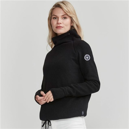 Holebrook 'Martina' Wool Windproof Jumper - Black  - Click to view a larger image