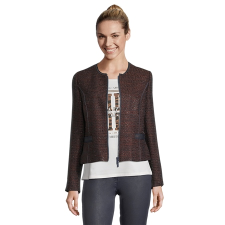Betty Barclay Zip Up Short Blazer  - Click to view a larger image