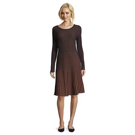 Betty Barclay Cotton Mix Striped A-Line Dress  - Click to view a larger image