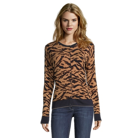 Betty Barclay Animal Print Cardigan  - Click to view a larger image