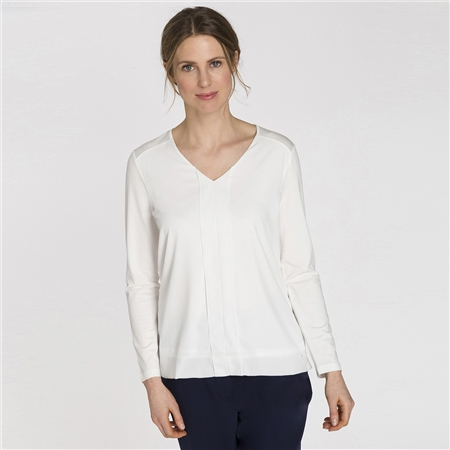 Olsen Chiffon Front Box-Pleat Top  - Click to view a larger image