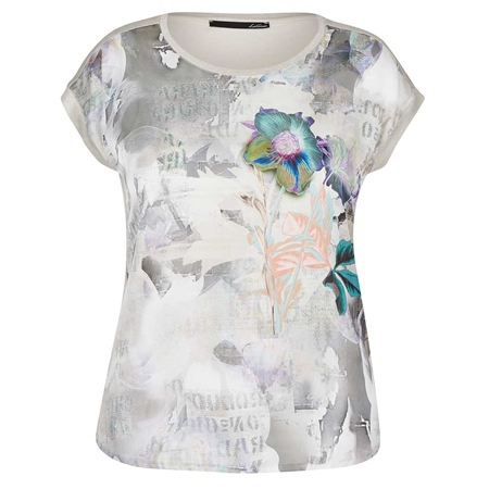 Le Comte Mixed Floral Print T-Shirt  - Click to view a larger image