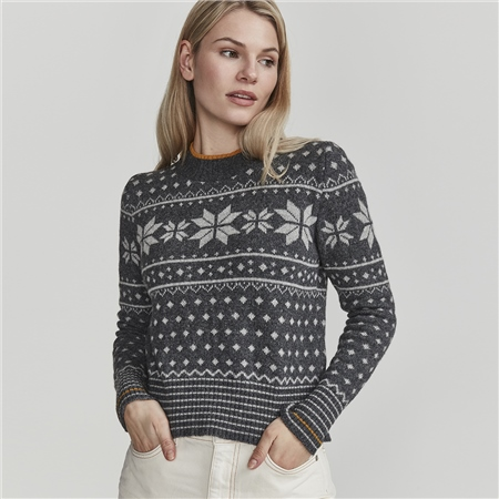 Holebrook 'Rachel' High Neck Jacquard Jumper  - Click to view a larger image
