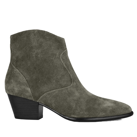 Ash 'Heidi Bis' Zip Up Suede Ankle Boots - Aviator Green 1