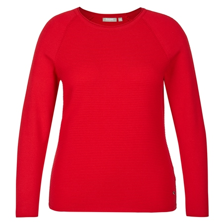 Rabe Embellished Ribbed Jumper - Carmine
