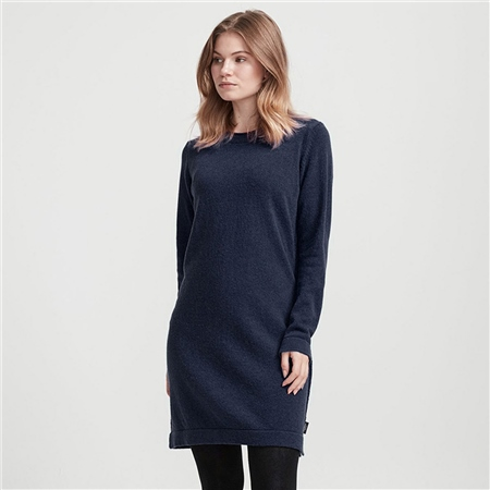 Holebrook 'Adrienne' Wool Blend Jumper Dress - Navy  - Click to view a larger image