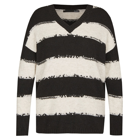 Le Comte V-Neck Striped Jumper  - Click to view a larger image