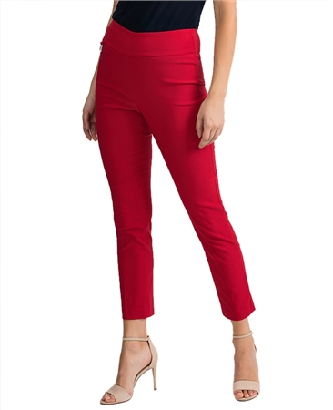 Joseph Ribkoff Essentials Pull On 7/8th Trousers - Lipstick Red  - Click to view a larger image