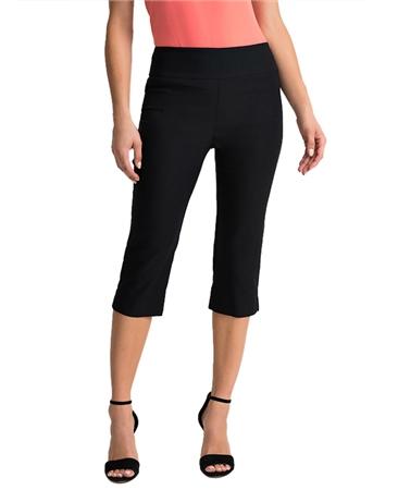 Joseph Ribkoff Pull On 3/4 Length Trousers - Black