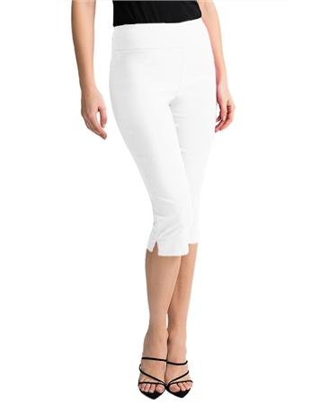 Joseph Ribkoff Pull On 3/4 Length Trousers - White