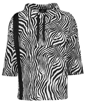 Monari Animal Print Embellished T-Shirt