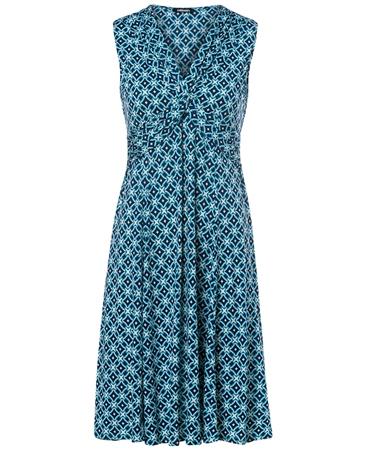 Olsen Tile Print Ruched Dress