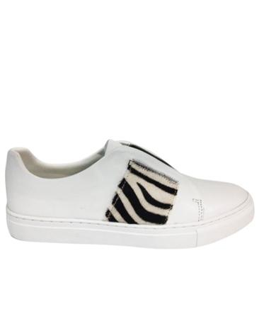 Philip Hog 'Elastic' Zebra Print Detail Slip On Trainers