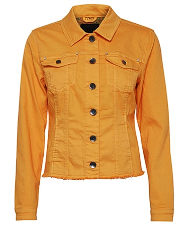Pulz Cotton Denim Look Jacket - Artisans Gold