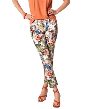 Toni 'Perfect Shape' Floral Print 7/8th Jeans