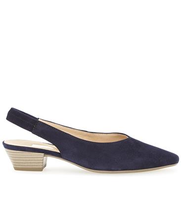 Gabor Slingback Low Heels - Blue