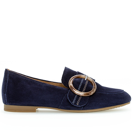 Gabor Buckle Detail Loafers - Bluette