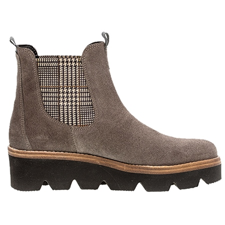Gabor Suede Wedged Ankle Boots - Wallaby