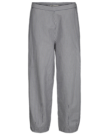 Two Danes 'Tanne' Striped Cropped Trousers - Deep Sea 1
