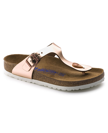 Birkenstock 'Gizeh' Metallic Sandals - Copper  - Click to view a larger image