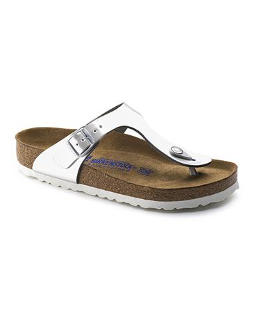Birkenstock 'Gizeh' Metallic Sandals - Silver
